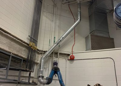 Capteur de soudure Nederman - Ventilation industrielle - Hydro-Québec Beauport